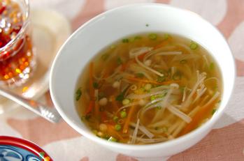 エノキのトロミスープ