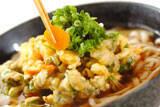秋のかき揚げ京風ヌードルの作り方の手順4