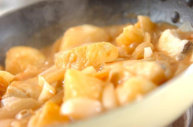 タラとジャガのこっくりみそ煮込みの作り方の手順4