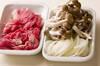 ササッと牛すき丼の作り方の手順1