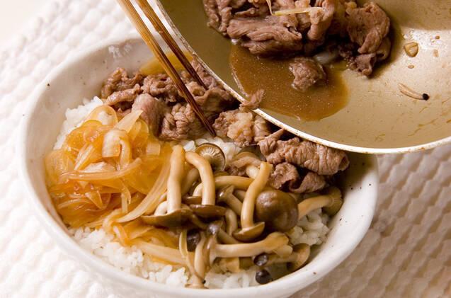 ササッと牛すき丼の作り方の手順4
