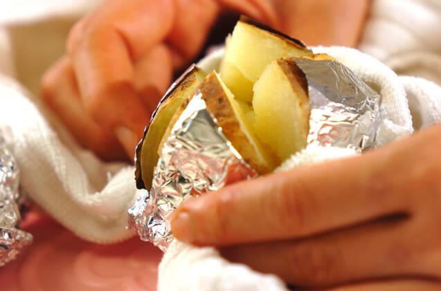 ベイクドポテトのバターのせの作り方の手順4