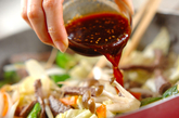 野菜とカルビの炒め丼の作り方3