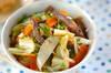 野菜とカルビの炒め丼の作り方の手順