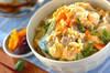 卵ふんわり親子丼の作り方の手順