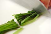 ナメコと水菜のおろし和えの作り方1