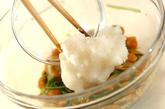 ナメコと水菜のおろし和えの作り方2