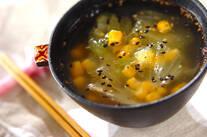 レタスの坦々スープ