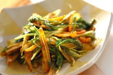ゴボウと水菜のカレー炒め 副菜 レシピ 作り方 E レシピ 料理のプロが作る簡単レシピ