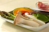 グリル野菜のマリネの下準備2