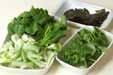 青菜の磯和えの下準備1