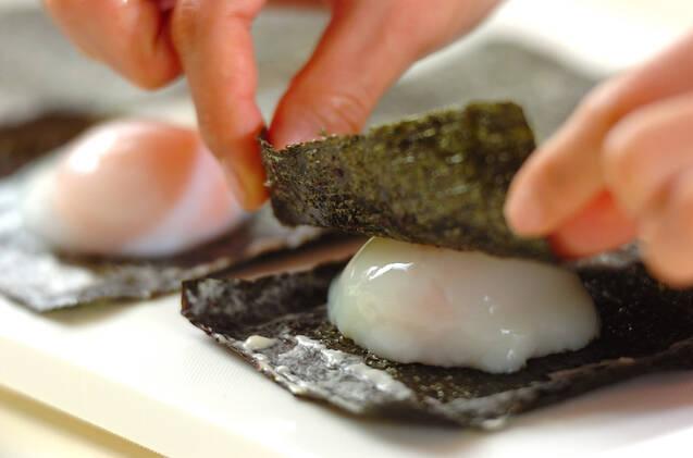 卵のり天ぷらの作り方の手順5