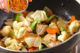カリフラワーのカレー炒めの作り方7