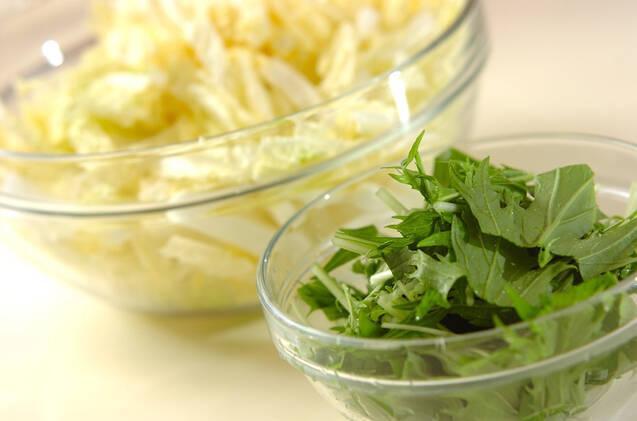 白菜のお浸しの作り方の手順1