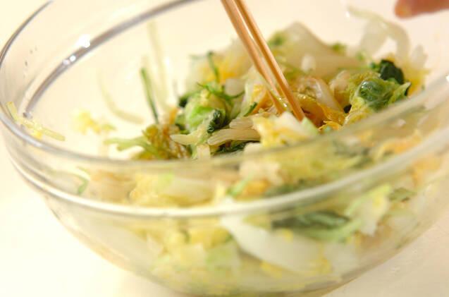 白菜のお浸しの作り方の手順3