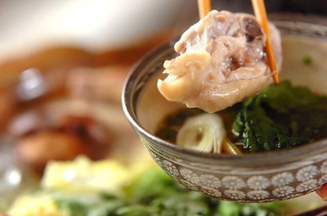 骨付鶏肉の水炊き鍋の作り方の手順7