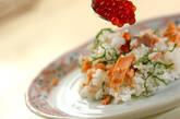 鮭とイクラの親子寿司の作り方4