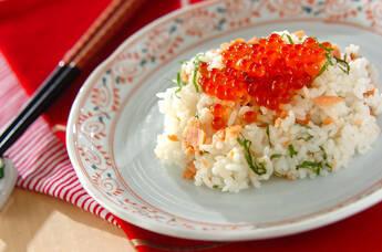 鮭とイクラの親子寿司