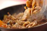 定番ひき肉と玉ネギのオムレツの作り方1