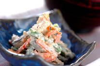焼き明太ゴボウサラダ
