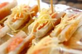 ちくわの明太チーズの作り方2