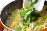 春野菜とアサリの炒め丼の作り方4