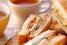 キムチのサンドイッチの作り方の手順