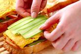 キムチのサンドイッチの作り方9
