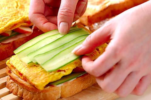 キムチのサンドイッチの作り方の手順9