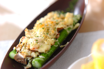 アスパラチーズ焼き