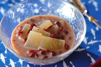 煎茶かん小豆汁粉
