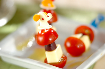 プチトマトのチーズピック