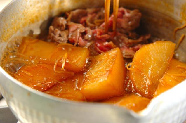 大根と牛肉の韓国すき煮の作り方の手順5