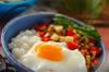 豚ひき肉でつくるガパオライスの作り方の手順