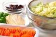 春キャベツの八宝菜の下準備1