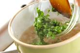 春菊と豚肉のピリ辛♪アジアンスープの作り方3