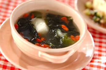 たたき大和芋のスープ