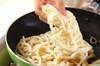 ザーサイ焼きうどんの作り方の手順3