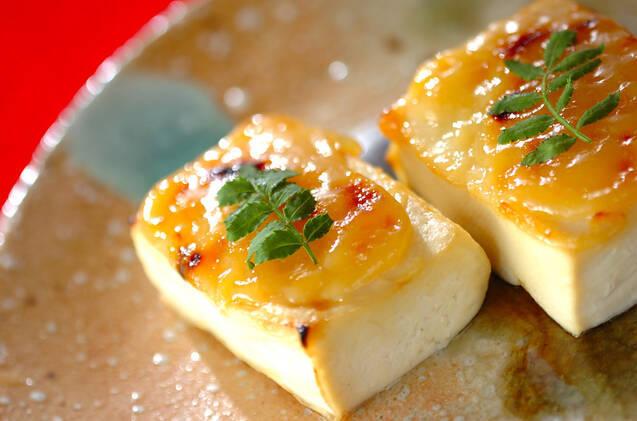 豆腐の柚子みそ焼き