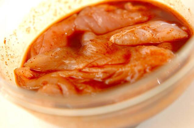 鶏ささ身のバーベキュー味の作り方の手順1