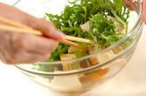 春菊と豆腐のピリ辛サラダの作り方6