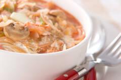 野菜たくさんスープパスタ