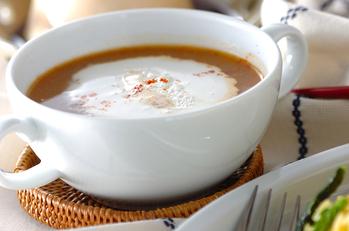 お肉を食べるスープ