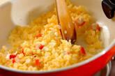 とろとろ卵のフカヒレあんかけチャーハンの作り方4