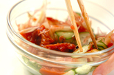 鶏ささ身と梅キュウリのゴマダレ素麺の作り方3