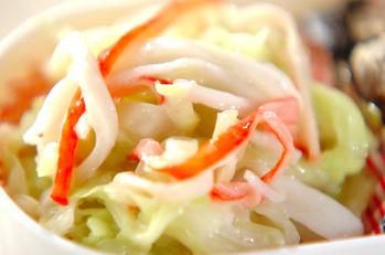 レンジキャベツのサラダ