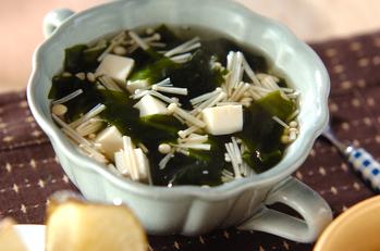 ワカメのヘルシースープ