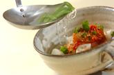 ふわふわハンペンのキムチスープの作り方3