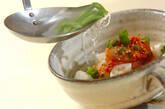 ふわふわハンペンのキムチスープの作り方6