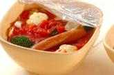 キャベツのトマトチーズスープの作り方3